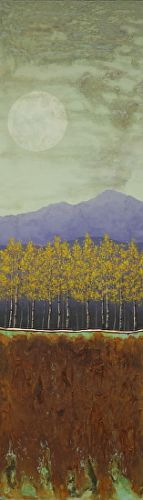 "Contemporary Landscape Art ""PATINA AND RUST MOON, MOUNTAINS"