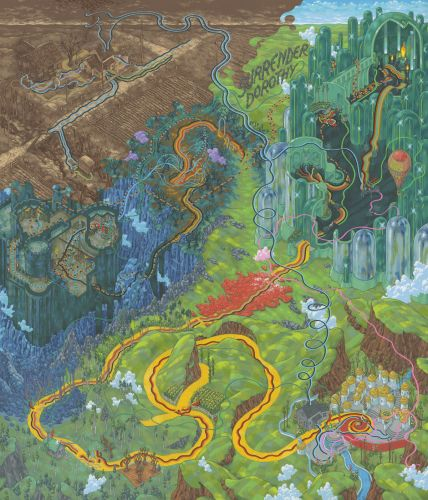 Cinematic Journeys Illustrated in Hand Painted Maps by Andrew DeGraff