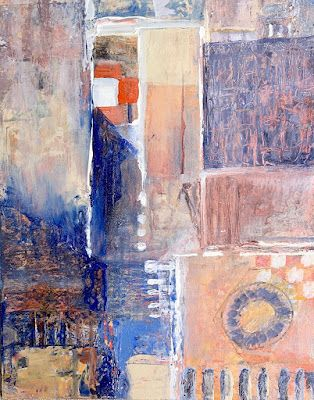 """Abstract Painting, Modern Art, """"Fifth Avenue"""" by Virginia Contemporary Artist Lou Jordan"""