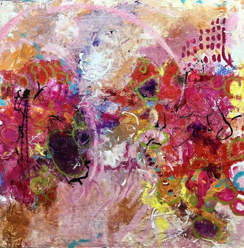 "Contemporary Abstract Expressionist Painting ""THIS IS HOW IT FEELS NOW"" by Contemporary Expressionist Pamela Fowler Lordi"