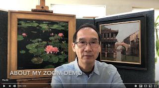 A message about my painting demo on Zoom