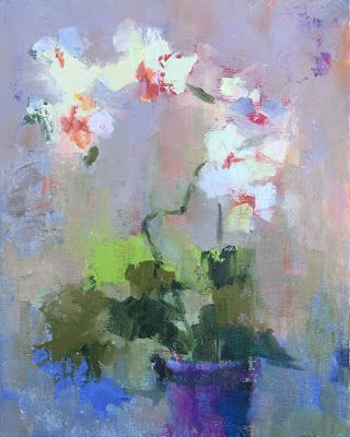 """Impressionist Floral, """"Orchid,"""" by Amy Whitehouse"""
