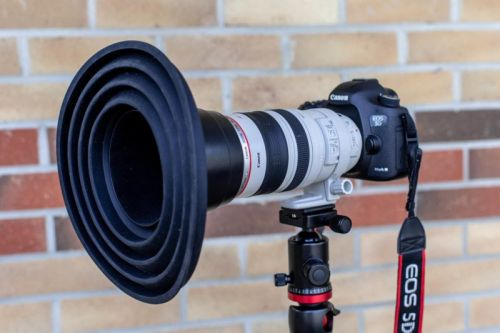 The Ultimate Lens Hood Lets You Shoot Reflection-Free Through Glass