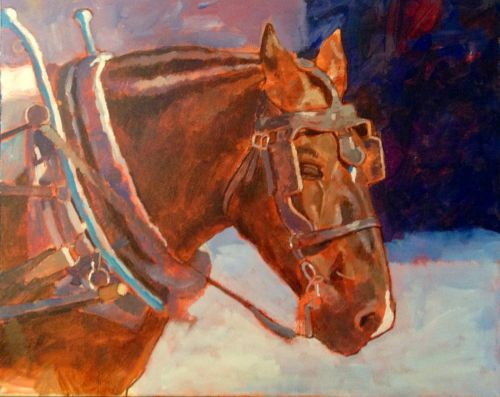 Charleston Horse. 16x20 acrylic on canvas