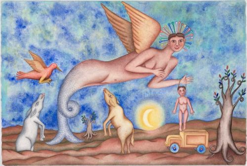 Felipe Morales - a watercolor on paper from the late 1980s
