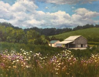 'Roadside Flowers' An Original Oil Painting by Claire Beadon Carnell