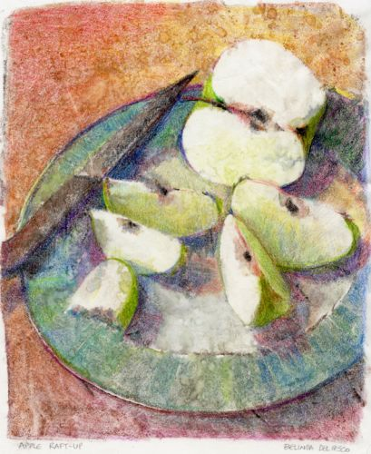 Monotype: Apple Raft Up and a Printmaking tutorial video
