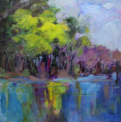 """Impressionist Landscape,Trees, Fine Art Oil Painting """"Nature's Eloquence"""" by Colorado Contemporary Fine Artist Jody Ahrens"""