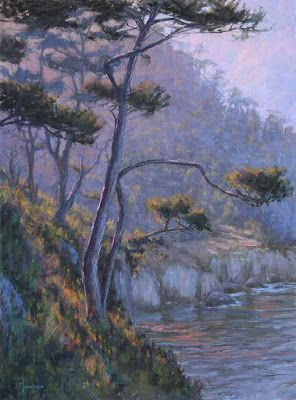 """Point Lobos"" 18x24 pastel"