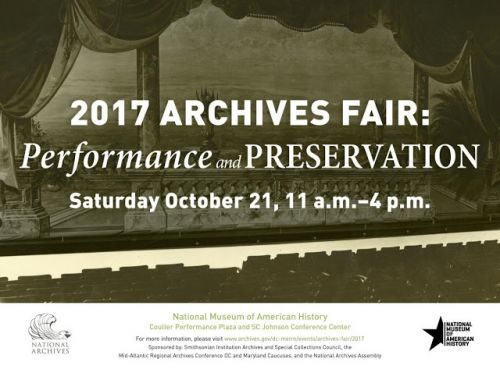 Come Join Us at the 2017 Archives Fair!