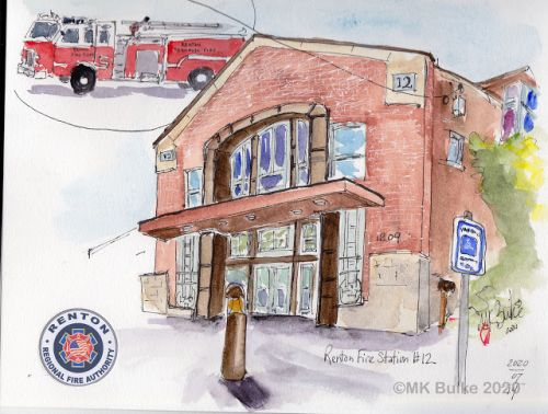 Renton fire stations, in gratitude