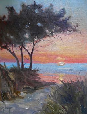 Landscape Oil Painting, Daily Painting, Small Oil Painting, Ocracoke Island, N Carolina