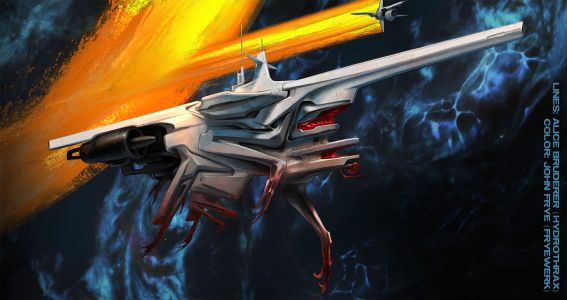 Concept spaceship art by alice bruderer and john frye