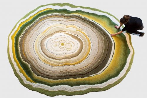 Hand-Tufted Rugs Celebrate the Natural Beauty of Lichen and Mold