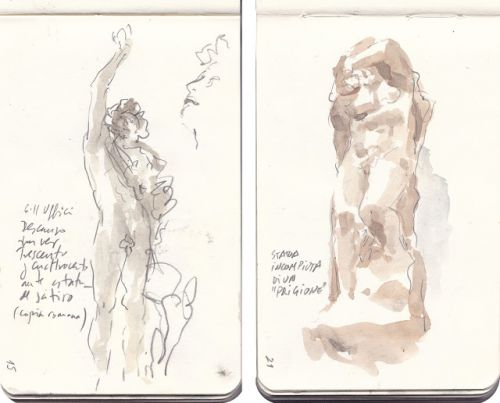 One month in Florence, with a pocket sketchbook (2)