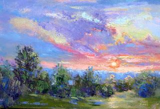 Pecan Valley Sunrise, New Contemporary Landscape Painting by Sheri Jones