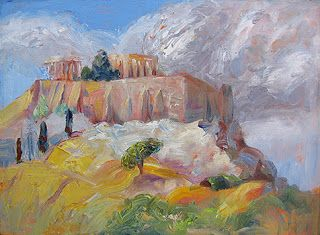 """Acropolis"" by Contemporary Impressionist Niki Gulley"