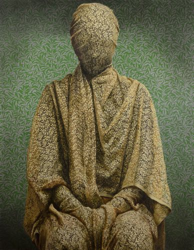 Ornate Fabrics Cloak Models in Disquieting Portraits by Artist Markus Åkesson