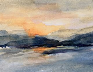 Ashokan Reservoir watercolors