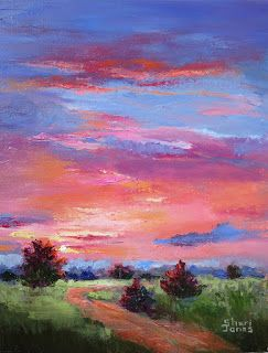 A Morning Sunny, New Contemporary Landscape Painting by Sheri Jones