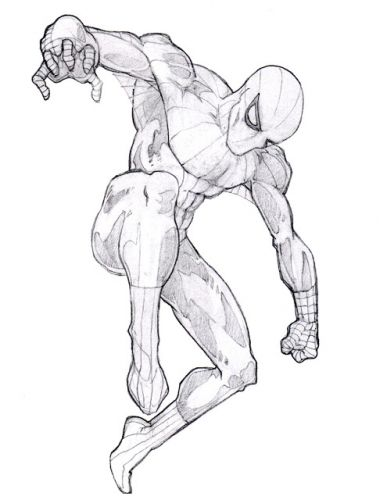 Spider-Man Pencil Drawing