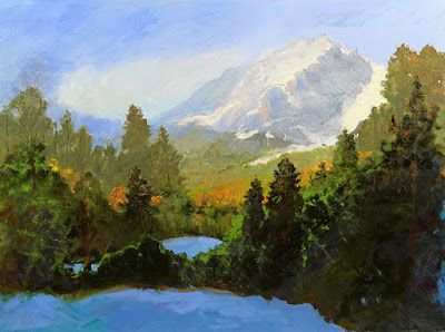 "Colorado Rocky Mountain Winter Snow Landscape Oil Painting,Fine Art For Sale,""Fall Into Winter"" by Colorado Landscape Artist Susan Fowler"