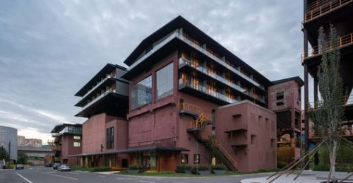 Holiday Inn Express Beijing Shougang Silo-Pavilion / China Architecture Design and Research Group