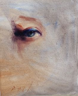 """Eye study"" female portrait"