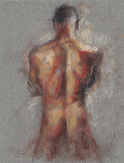 Backside male nude