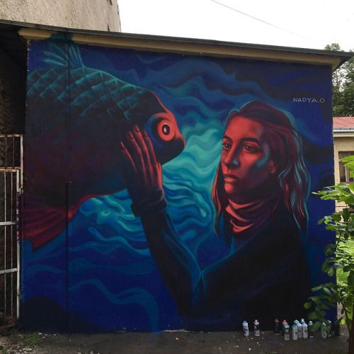 Street Art by Nadya ONadya O is a street artist from Saint