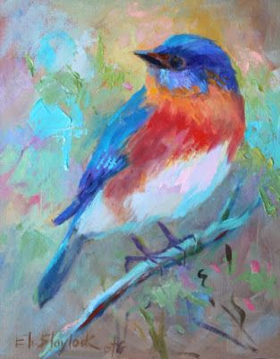 APRIL BLUEBIRD by Elizabeth Blaylock