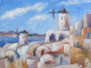 Plein Air Painting and Photographing in Santorini, Greece with Niki Gulley and Scott Williams