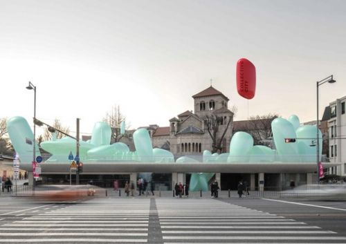 SKNYPL Designs Inflatable ETFE Garden for Seoul Hall of Urbanism and Architecture