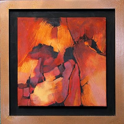 "Contemporary Abstract Art Painting, ""SANDSTONE, 12074"" by Carol Nelson Fine Art"