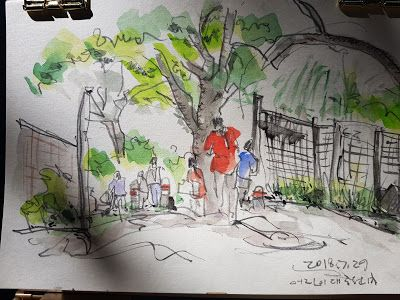 Urban Sketch Journey at the Seoul Children's Grand Park with USK Seoul !