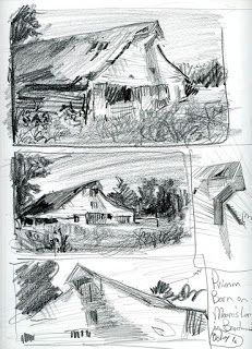 Drawings Featuring the Primm/Owen Barn in Brentwood TN