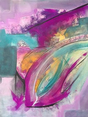 """Abstract Expressionism, Contemporary Art, Acrylic Painting """"Volatile"""" by Arizona Abstract Artist Cynthia A. Berg"""