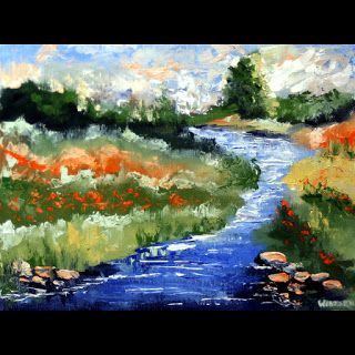 Mark Webster - Impressionist Landscape Oil Painting 6711