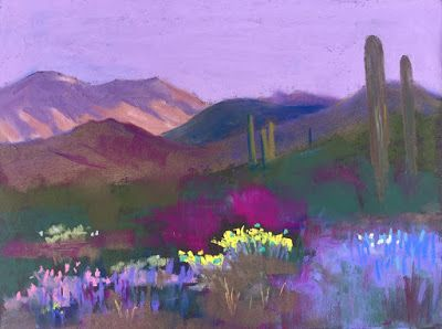 """Contemporary Southwest Landscape, """"Early Morning,"""" by Amy Whitehouse"""