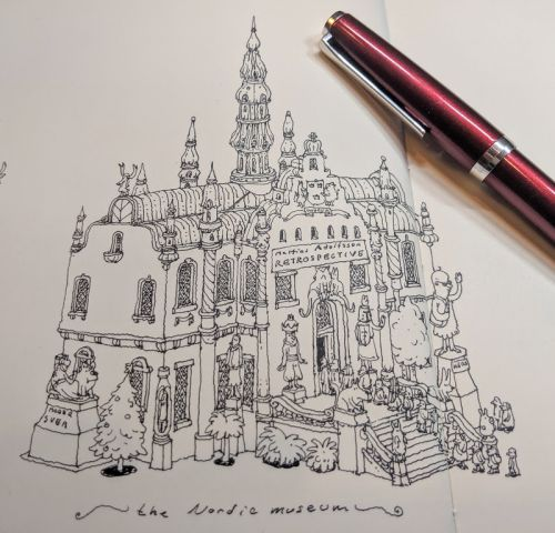 Drawing Stockholms most iconic buildings from memory