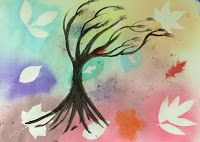 Spray Stenciling Leaves With Liquid Watercolors