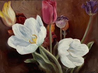 Tulips, by Melissa A. Torres, 9x12 oil on gallery wrap linen canvas