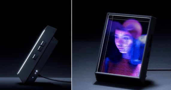 This Digital Photo Frame Can Turn Your iPhone Portraits into 3D Holograms