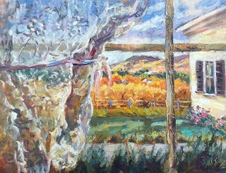 "New ""Room with a View"" Oil Painting by Contemporary Impressionist Niki Gulley"