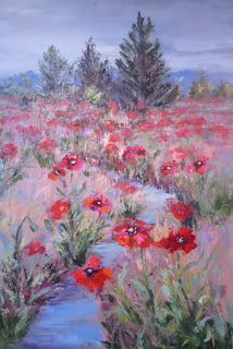Visions of Poppy, New Contemporary Landscape by Sheri Jones