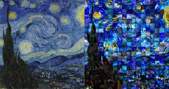50 Photogs Recreate 'Starry Night' as a Light Painting Mosaic