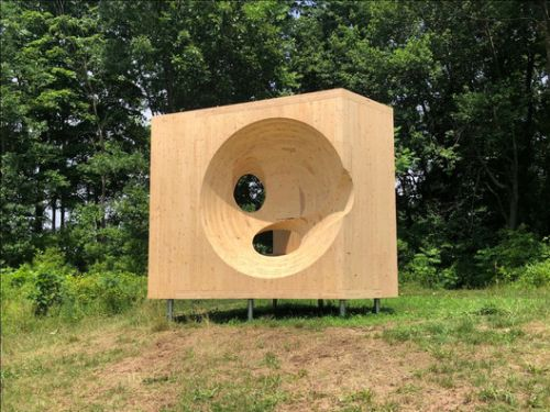 Steven Holl Explores CLT Subtraction to Create a Playful Sculpture in Ghent, NY