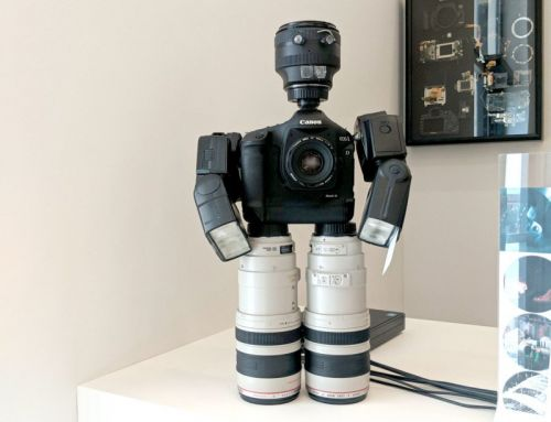 This Robot is Made of Canon DSLR Gear
