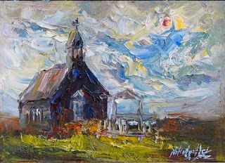 Painting the Black Church in Iceland by Niki Gulley