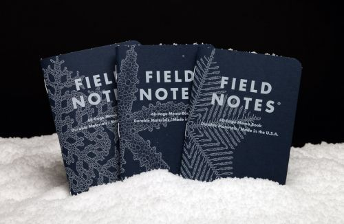 A Flurry of New Notebooks from Field Notes Features 99,999 Unique Snowflake Designs